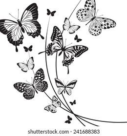 design of different butterflies
