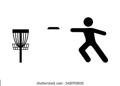 design of disc golf sport symbol