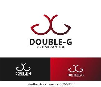design double G letter logo