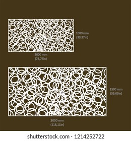 Design of drawings in vectorized files optimized for laser and CNC cutting. Decorative latticework for architecture, interiors, facades, shops, airports, stand and signage. Metal, hpl, composite y mdf