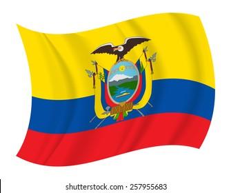 design Ecuador flag waving vector