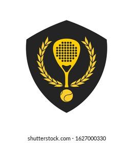 Design of  elegant padel sport emblem