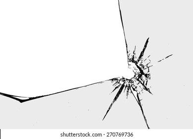design element. broken glass