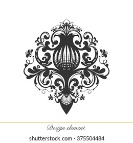 Design element for decorations. illustration