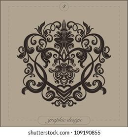 Design element for decorations   Vector illustration.