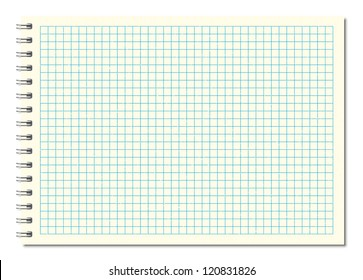 design element.  notebook  vector graph paper  background