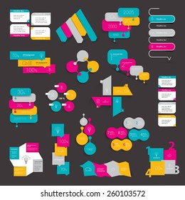 Design element set of info graphics.