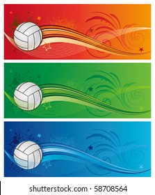 design element for volleyball sport