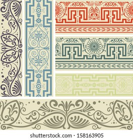 Design elements. Borders with classical style