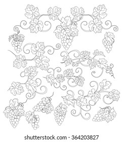 Grape Leaf Drawing Images Stock Photos Vectors Shutterstock