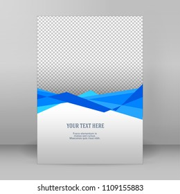 Design elements business presentation template. vertical web banners background, blank on transparent backdrop. Vector illustration EPS10 elegant flyer, booklet layout, wellness leaflet, newsletter
