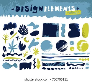 Design elements collage cut outs