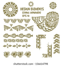 design elements in ethnic style