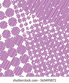 design elements with halftone raster effect. vector illustration, tool for designers.