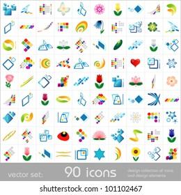 Design elements. Icons set. Vector.