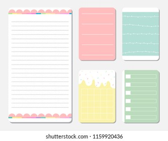 design elements for notebook, diary, stickers and other template.