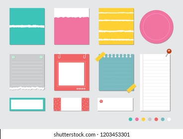 design elements for notebook, diary, stickers and other template.vector,illustration.