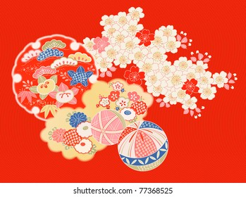 design elements from old Japanese kimono