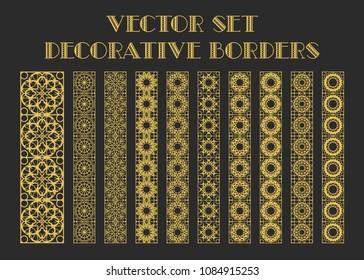 Design elements and page decoration. Vector set of borders