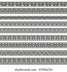Design elements pompeian borders