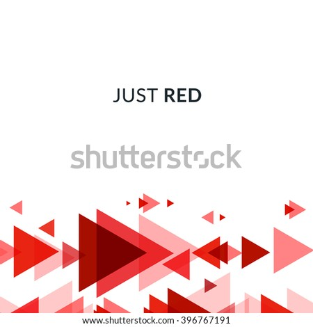 Design Elements Red Modern Overlapping Triangles Stock Vector ...