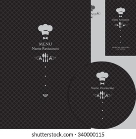 design elements for a restaurant in the black