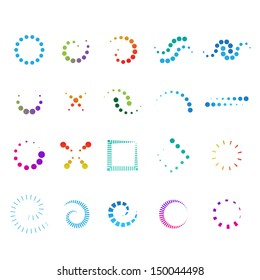 Design Elements Set - Isolated On White Background - Vector Illustration, Graphic Design Editable For Your Design. Design Flat Logo