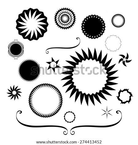 Design Elements Vector Black White Borders Stock Vector Royalty