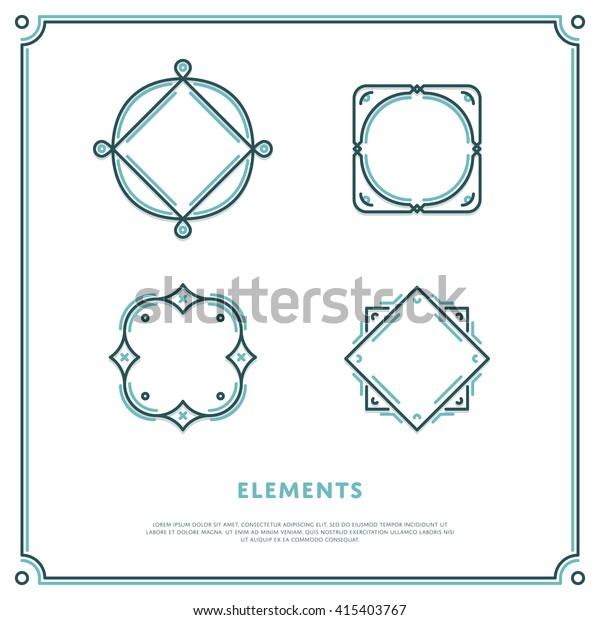 Design Elements. Vector Logo Border Illustration. Tempalte for sign