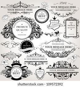 design elements vector set