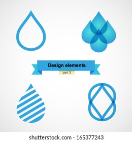 Design elements. Water drop