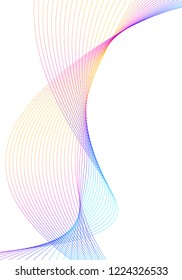 Design elements. Wave of many lines. Abstract vertical wavy stripes on white background isolated. Creative line art. Vector illustration EPS 10.