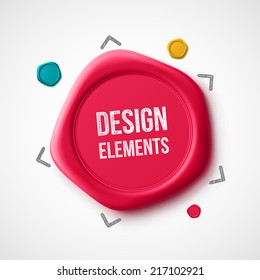 Design elements, wax seal, eps 10