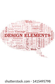 Design Elements word cloud. Wordcloud made with text only.