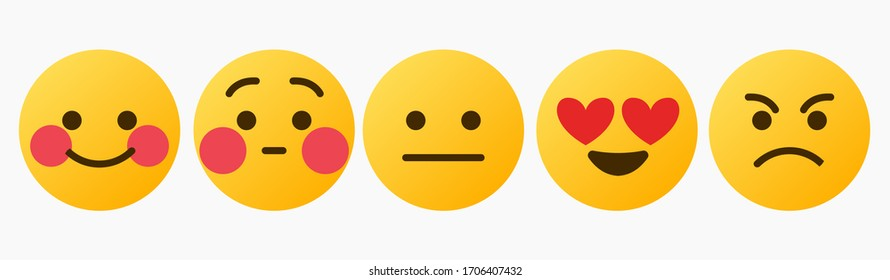Design Emoticon Reaction Set - Vector