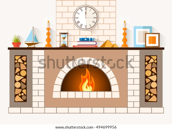 Design Fireplace Room Large Brick Fireplace Objects Interiors