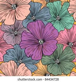 Design floral element. Vector illustration. Seamless.