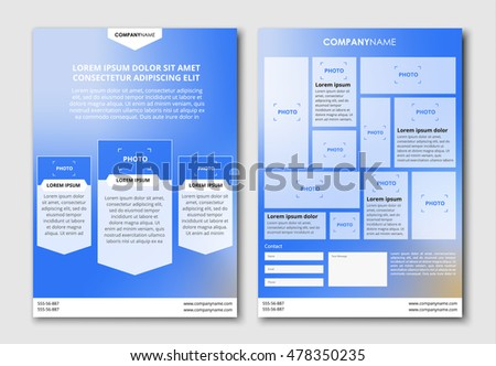 design flyer brochure blurred blue sky stock vector royalty free
