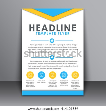 design flyer cover poster brochure template stock vector royalty