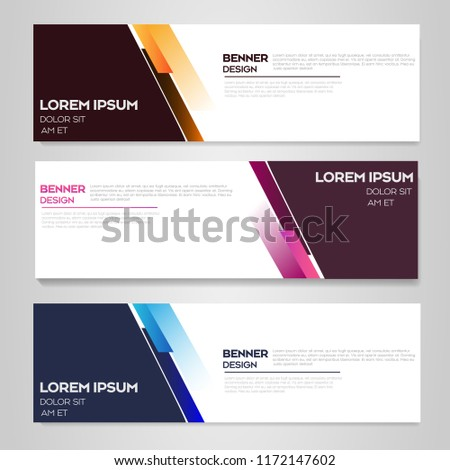 Design Flyers Banners Banner Web Templatebrochures Stock Vector