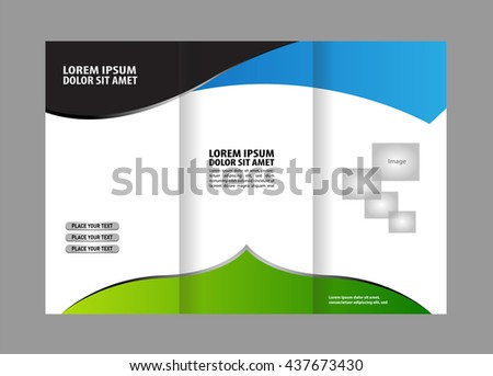 design folding brochures blue polygonal backgrounds stock vector