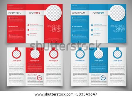 design folding brochures print template flyer stock vector royalty