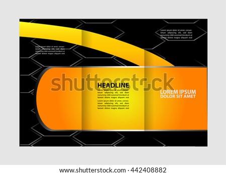 design folding brochures trifold brochure set stock vector royalty