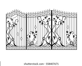 Design of forged gate with a wicket