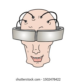 design of futuristic robot face draw