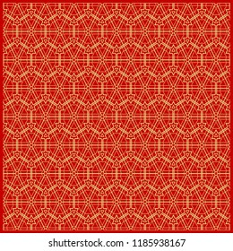 Design of a Geometric Flower Pattern. vector. for wallpaper, flyer, book, brochure
