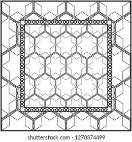 Design of a Geometric Pattern. vector. Repeating sample figure and line. For fashion interiors design, wallpaper, textile industry. White and black.