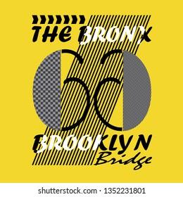 design graphic Brooklyn city,vector typography artistic concept,t-shirt print,illustration art