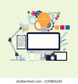 Design graphic modern office for your business