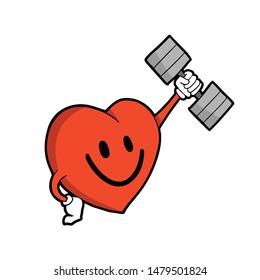 Design of gym heart illustration